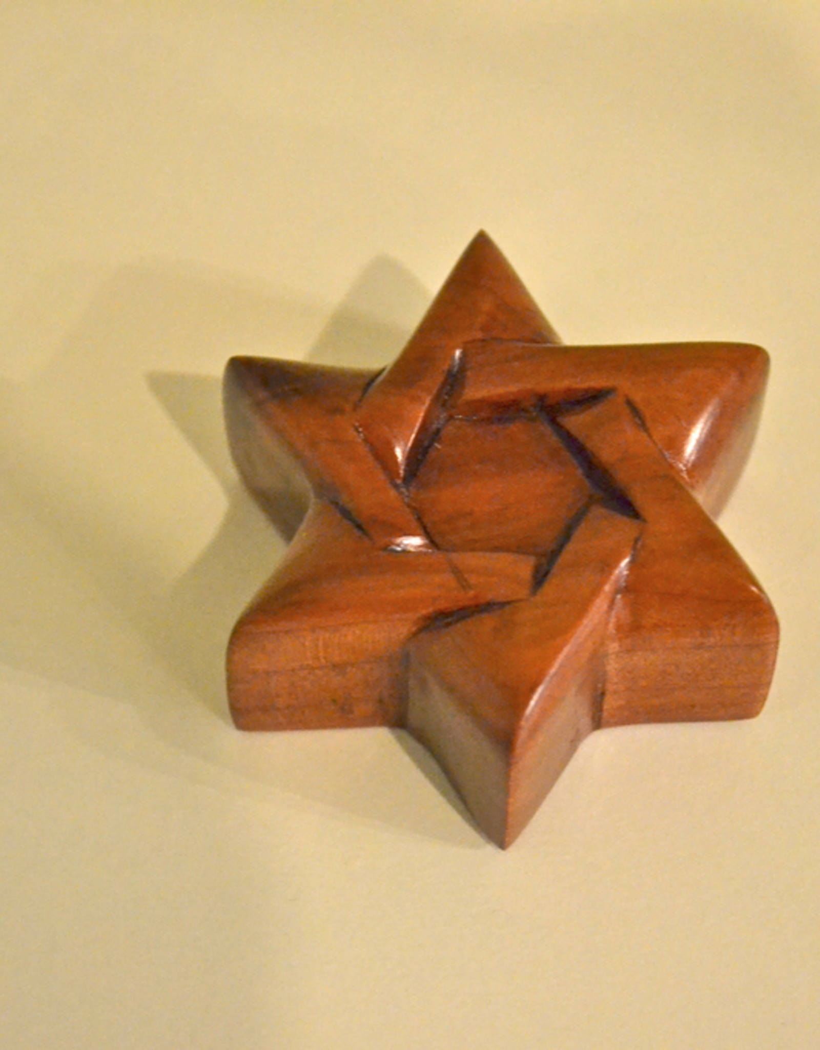 """Merry Crosses 2"""" Merry Hand Crafted Aromatic Cedar Star of David"""