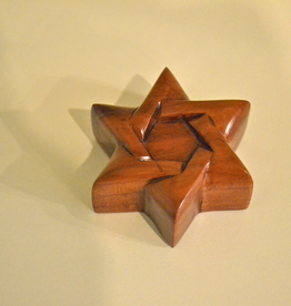 "Merry Crosses 2"" Merry Hand Crafted Aromatic Cedar Star of David"