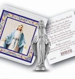 WJ Hirten Our Lady of Grace Pocket Statue w/ Prayer