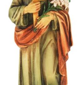 "WJ Hirten 4"" St. Jospeh the Worker Hand Painted Statue"