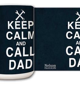 Nelson/Catholic to the Max Keep Calm and Call Dad Mug