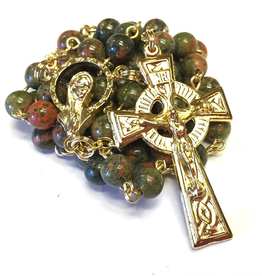 BC Inspirations BC Inspirations: Handcrafted Unikite Stone Rosary
