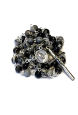 BC Inspirations BC Inspirations:  Handcrafted Silk Stone Rosary w/ Pope Francis Center