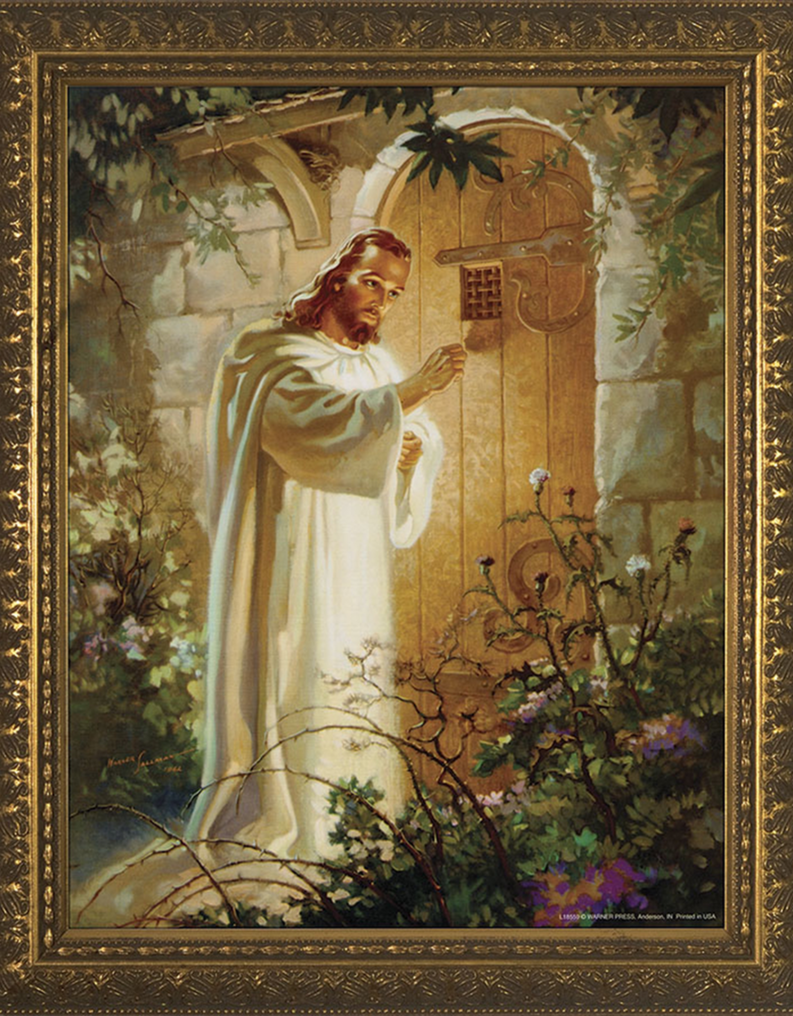 Nelson/Catholic to the Max Christ at Heart‰Ûªs Door Framed Image in Gold Frame 5 x 7‰Û