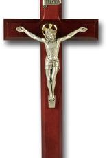 WJ Hirten Dark Cherry Crucifix w/ Antique Silver Corpus 11‰Û