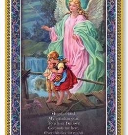 WJ Hirten Guardian Angel Gold Foil Plaque w/ Prayer (5 x 9Ì¢‰âÂå)
