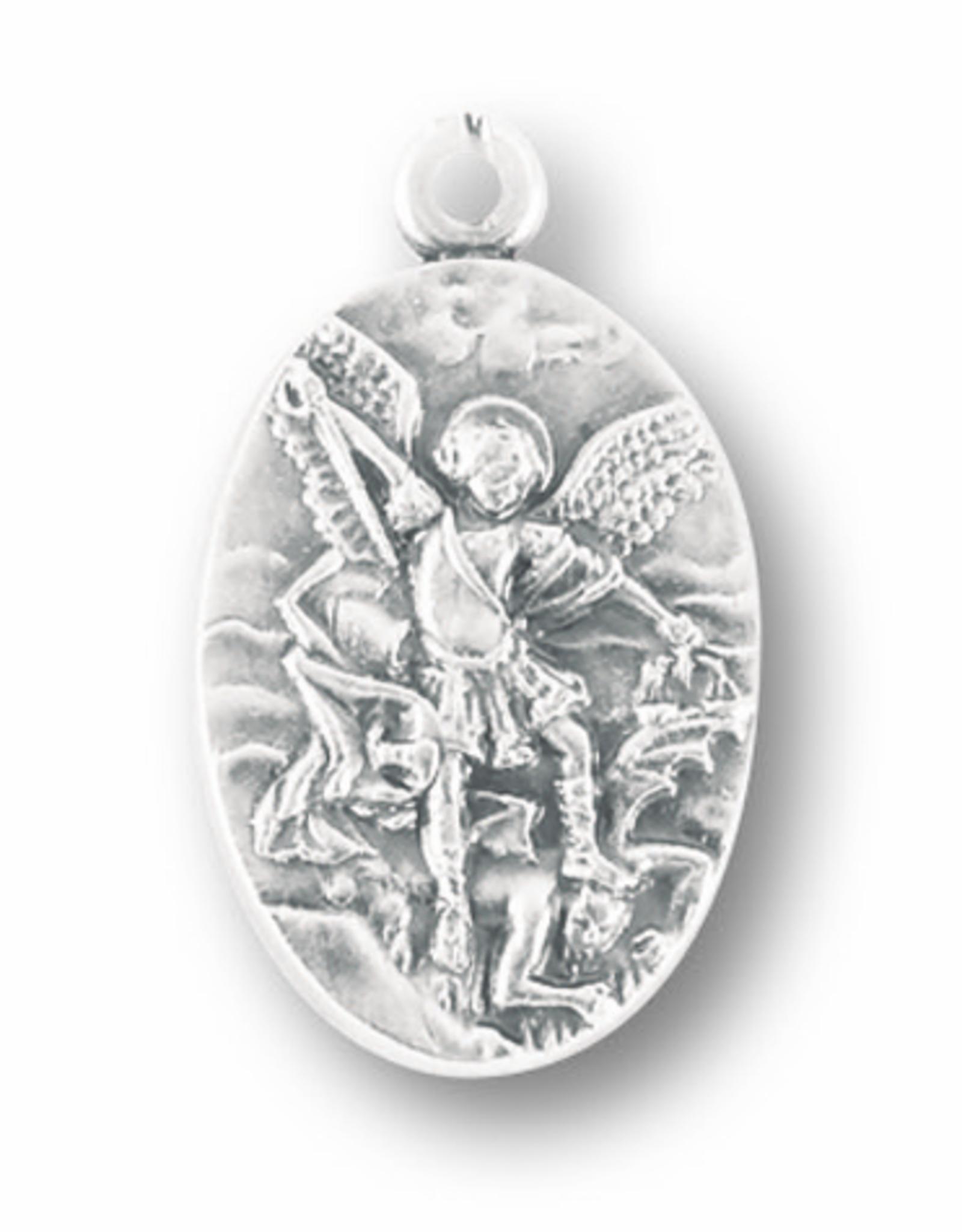 WJ Hirten St. Michael Medal (DETAIL)