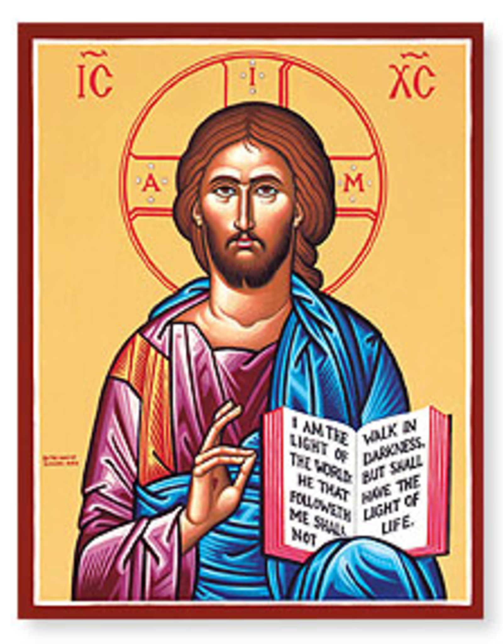 "Monastery Icons 3"" x 4"" Christ the Teacher Icon"