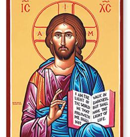 "Monastery Icons 3"" x 4"" Christ the Teacher Icon"