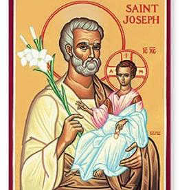 "Monastery Icons 3"" x 4"" St. Jospeh Icon"