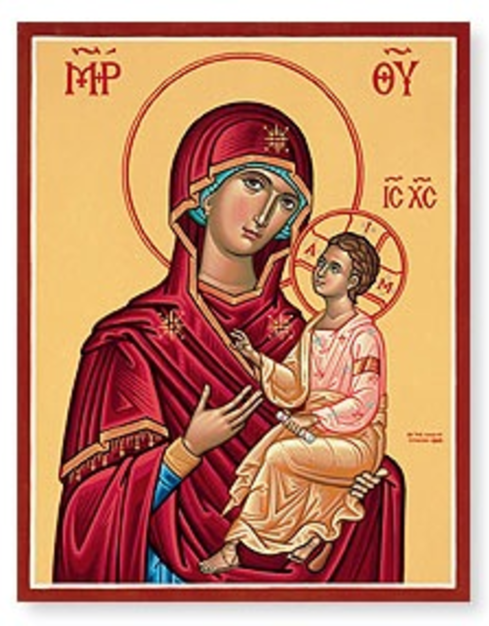 "Monastery Icons 4"" x 6"" Virgin and Child Icon"