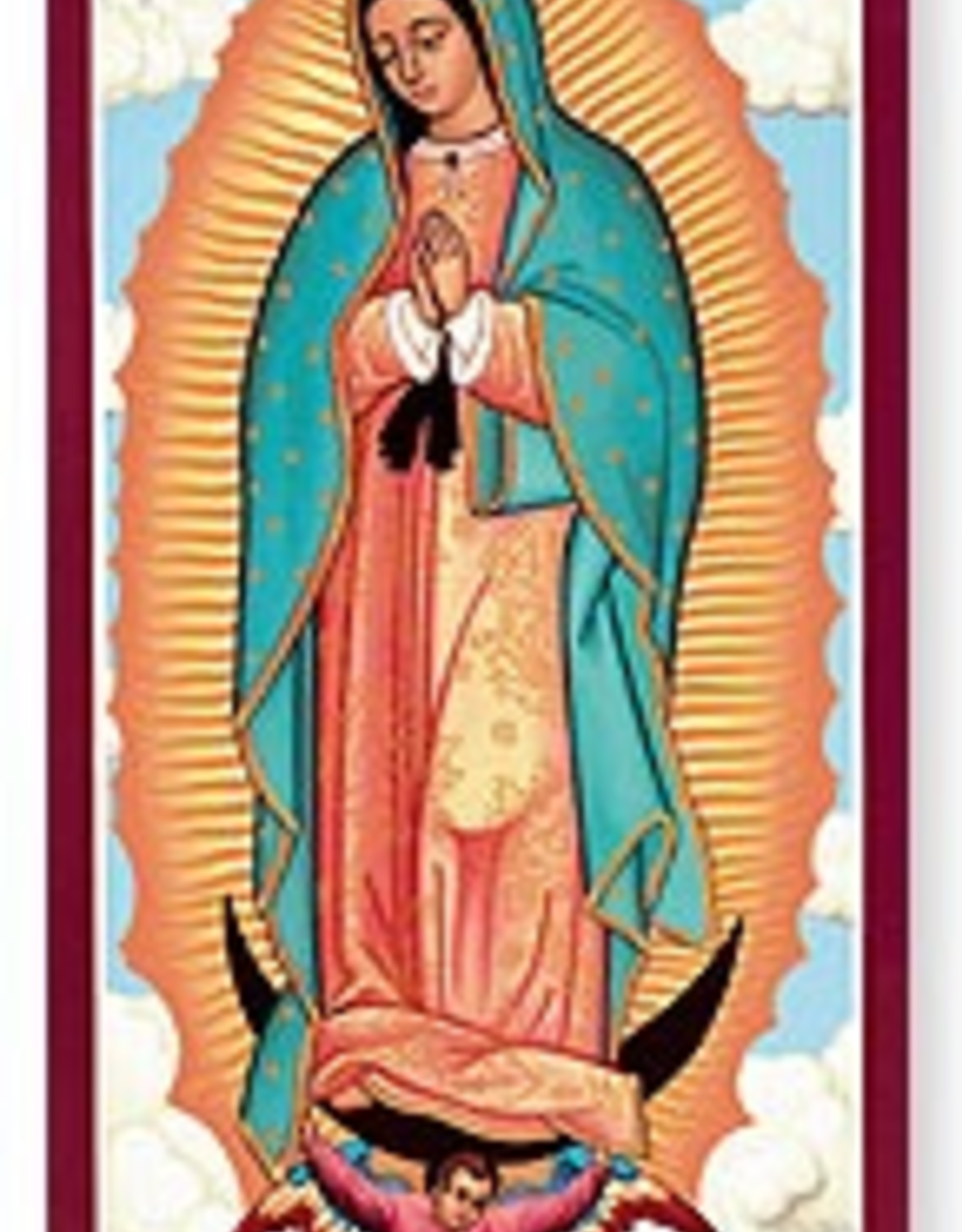 """Monastery Icons 3"""" x 6"""" Our Lady of Guadalupe Icon"""