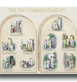 """WJ Hirten The Ten Commandments Poster (19x27"""")"""