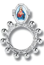 WJ Hirten Sacred Heart Finger Rosary and Prayer Card w/ Pouch