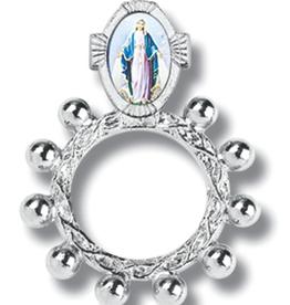 WJ Hirten Miraculous Medal Finger Rosary