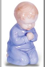 WJ Hirten Praying Boy in Glazed Porcelain Nightlight