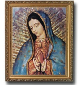WJ Hirten Framed Our Lady of Guadalupe 8x10""