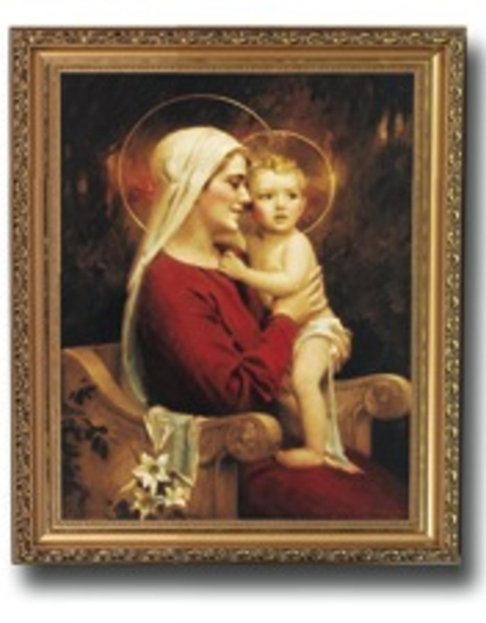 "WJ Hirten Framed Chambers:  Madonna and Child 8x10"""