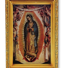 """WJ Hirten Our Lady of Guadalupe w/ Angels 4.5x6.5"""""""