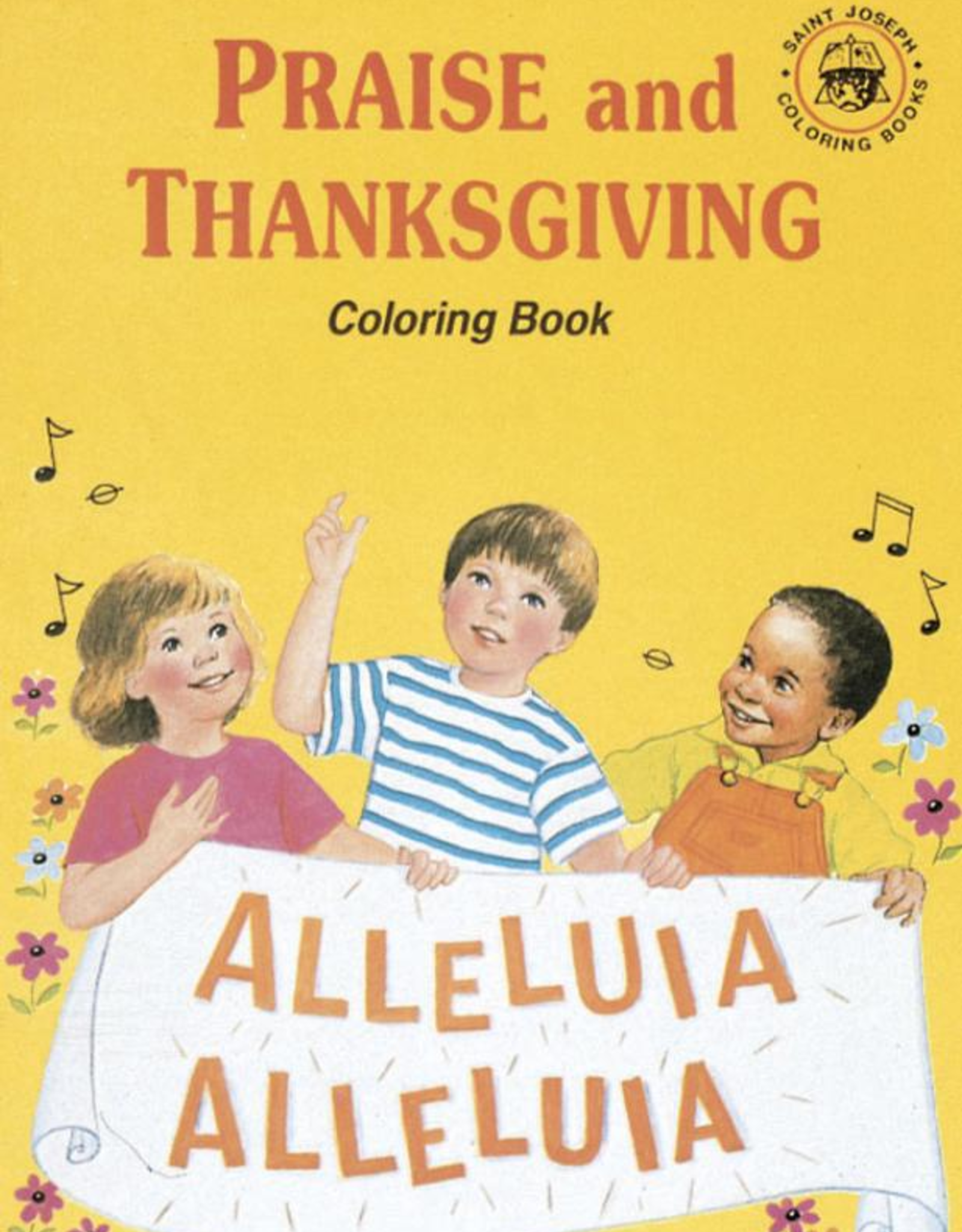 Catholic Book Publishing Coloring Book About Praise and Thanksgiving, by Emma C. Mickean (paperback)