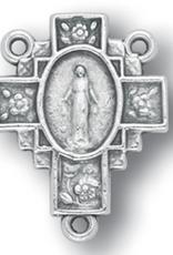 WJ Hirten Flower-Cross Miraculous Medal Centerpiece