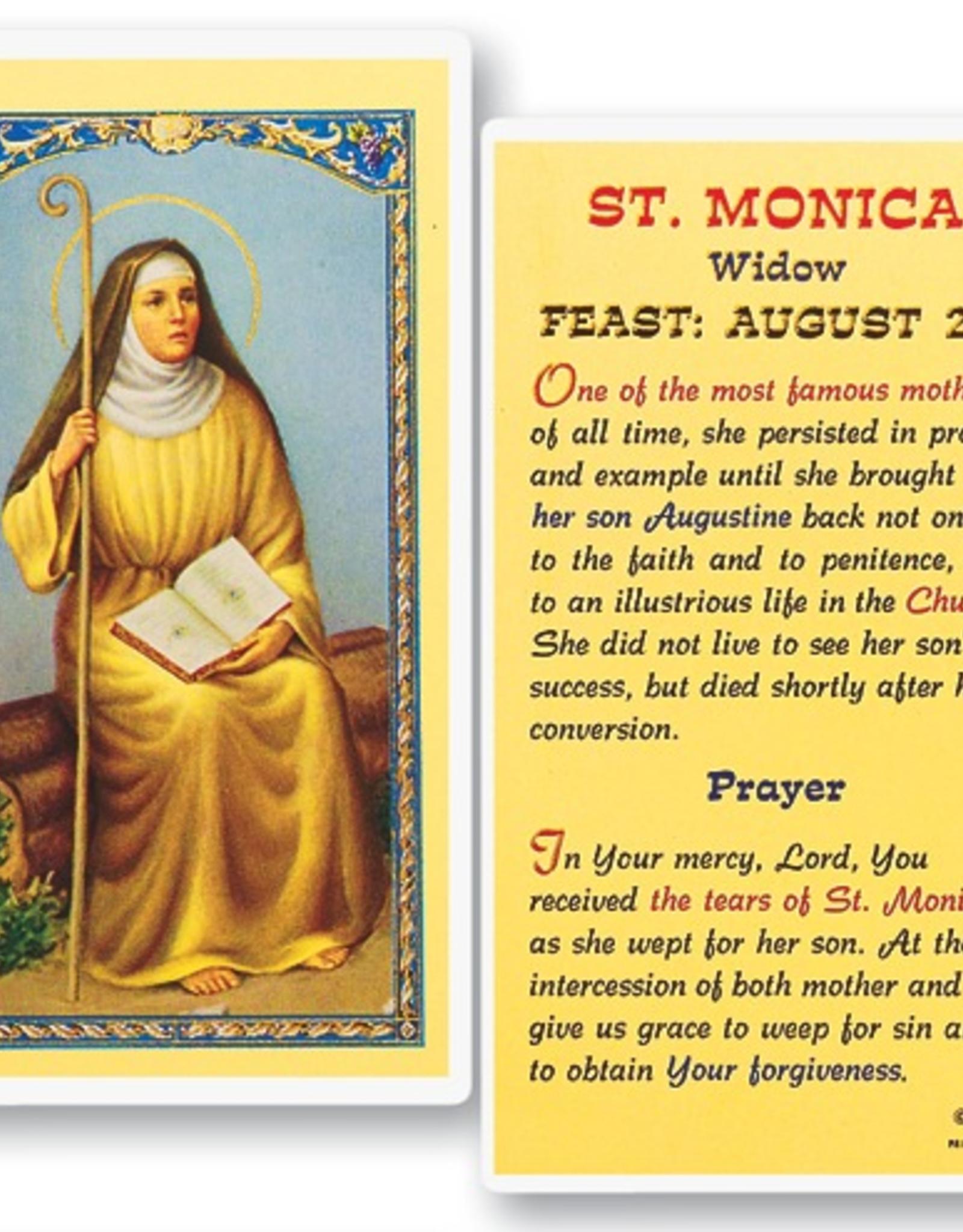 WJ Hirten St. Monica Holy Cards (25/pk)