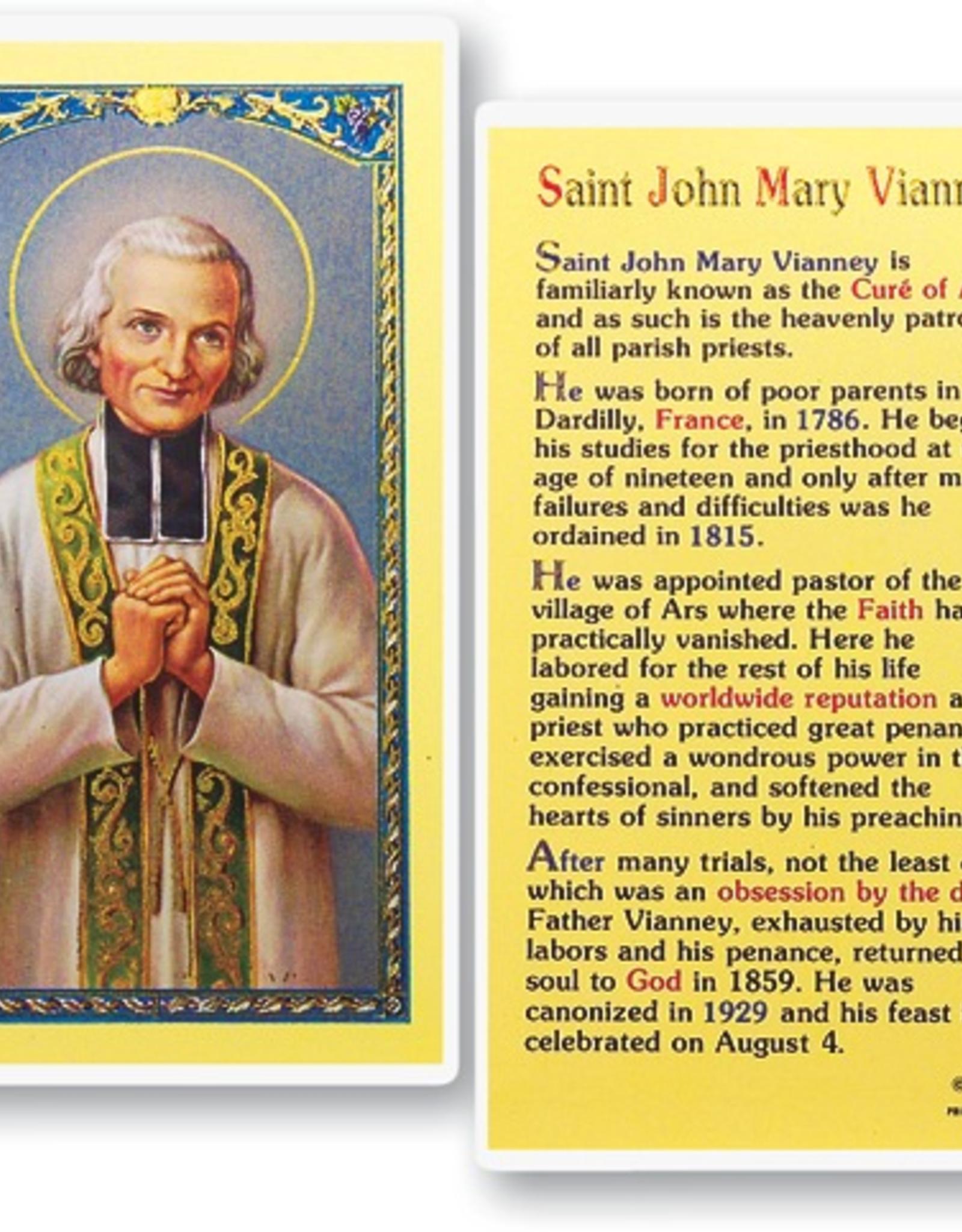 WJ Hirten St. John Mary Vianney Holy Cards (25/pk)