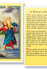 WJ Hirten St. Christopher Holy Card (A Driver's Prayer) Holy Cards (25/pk)