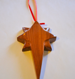 "Merry Crosses 5 1/2"" Hand Crafted Aromatic Cedar Star of Bethlehem Cross/ Ornament"