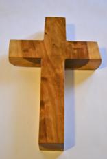 "Merry Crosses 8""  Merry Handcrafted Aromatic Cedar Wall Cross"