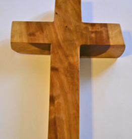 "Merry Crosses 8"" Merry Handcrafted Aromatic Cedar Wall Cross"