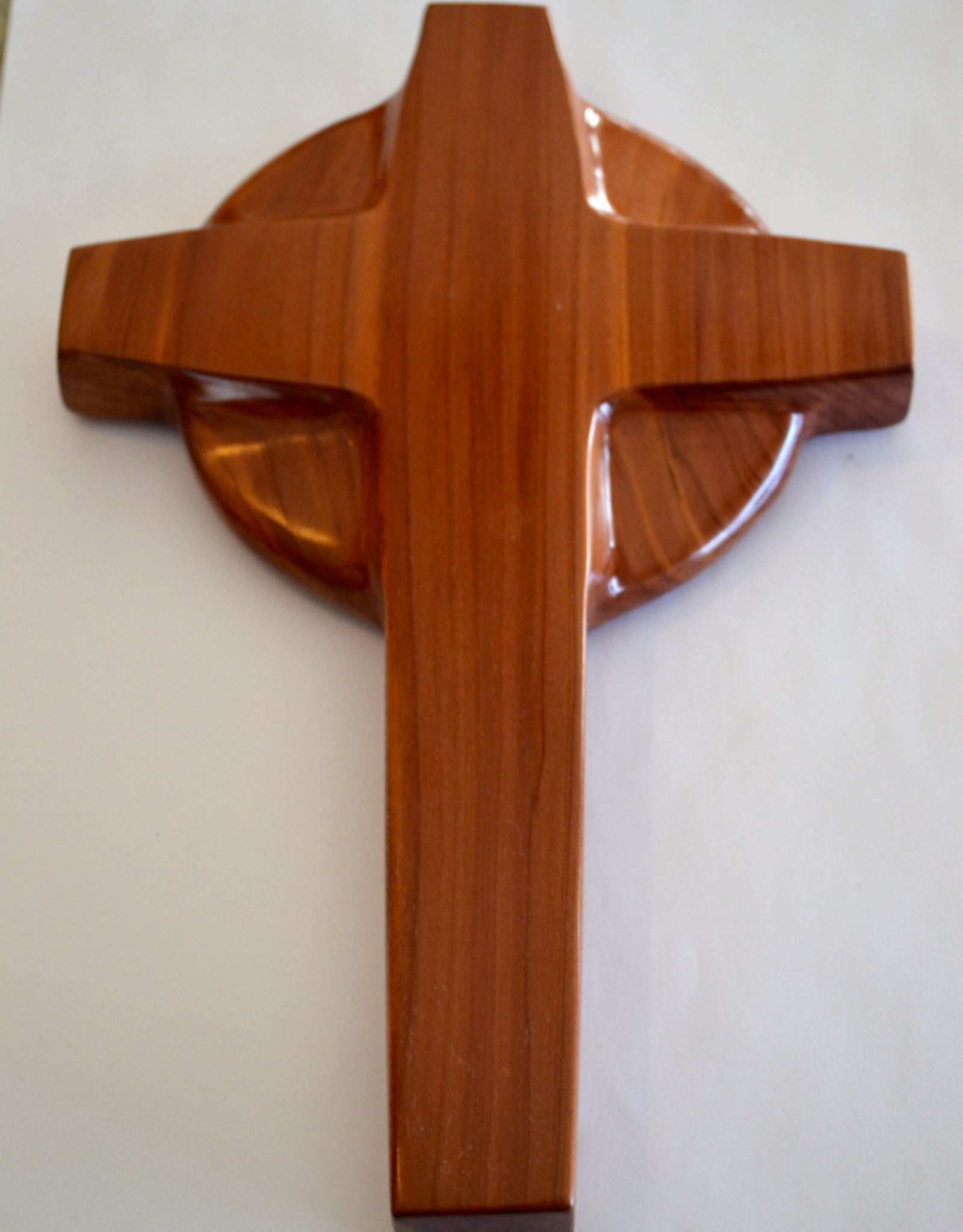 "Merry Crosses 10"" Merry Handcrafted Aromatic Cedar Celtic Wall Cross"
