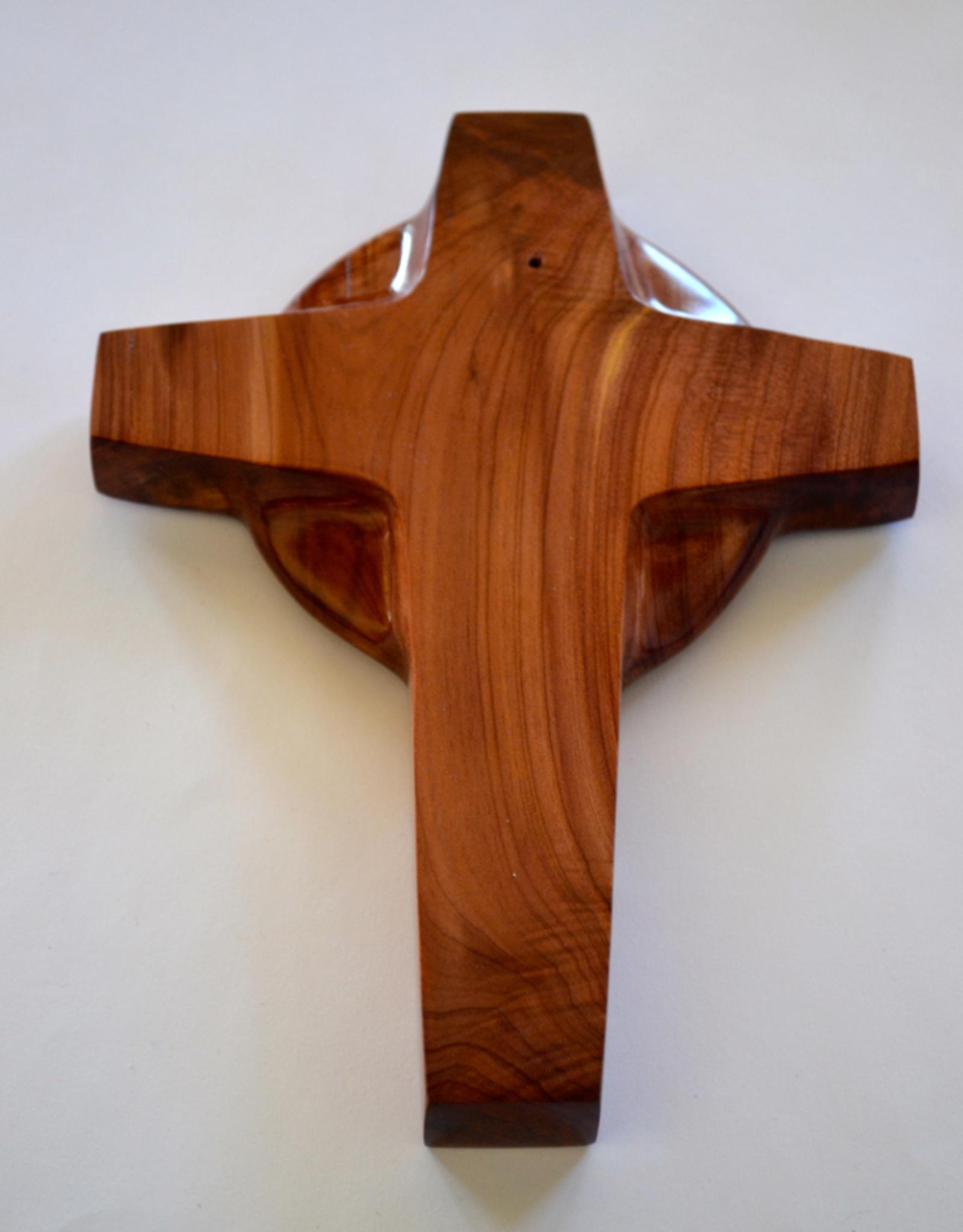 "Merry Crosses 7"" Merry Handcrafted Aromatic Cedar Celtic Wall Cross"