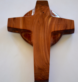 "Merry Crosses 7"" Merry Handcrafted Aromatic Cedar Celtic Wall Cross"