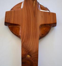"Merry Crosses 8"" Merry Handcrafted Aromatic Cedar Celtic Wall Cross"