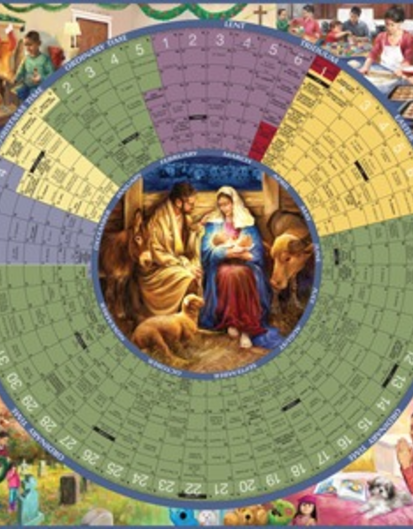 Liturgical Training Press Year of Grace Liturgical Calendar 2013 Laminated Poster,  Illustrated by Brock Nicol
