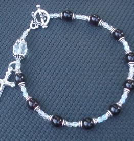 MG Rosary MG Rosary: Handcrafted Birthstone (January) Single Decade Wrist Rosary