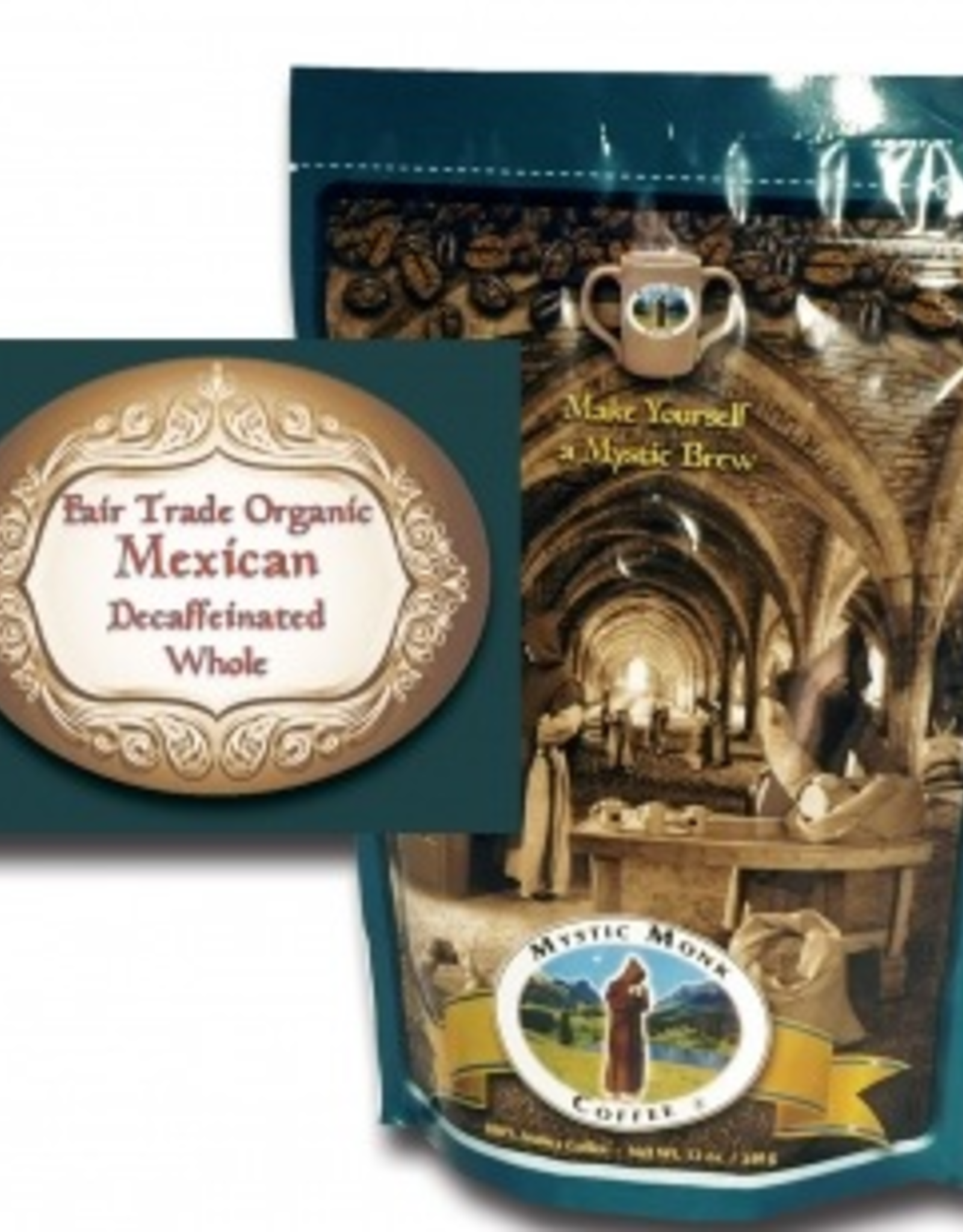 Mystic Monk Fair Trade Organic Decaffeinated Mexican- Whole
