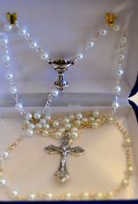 Credo Catholic Credo Catholic Handmade Pearl Bead First Communion Rosary with Chalice (girls)