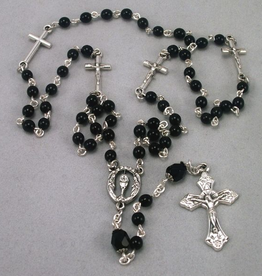 MG Rosary MG Rosary: Handcrafted Black Onyx w/ Crucifixes and Chalice Centerpiece