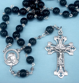 MG Rosary MG Rosary: Handcrafted Black Onyx Men's Rosary (St. Benedict)