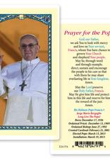 WJ Hirten Pope Francis Holy Cards (25/pk)