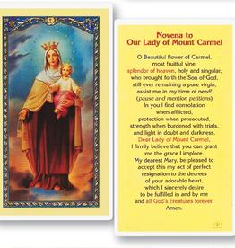 WJ Hirten Novena to Our Lady of Mt. Carmel Holy Cards (25/pk)