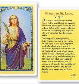 WJ Hirten St. Lucy Holy Cards (25/pk)