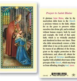 WJ Hirten St. Blaise Holy Cards (25/pk)