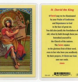 WJ Hirten St. David the King Holy Cards (25/pk)