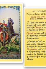 WJ Hirten St. George Holy Cards (25/pk)
