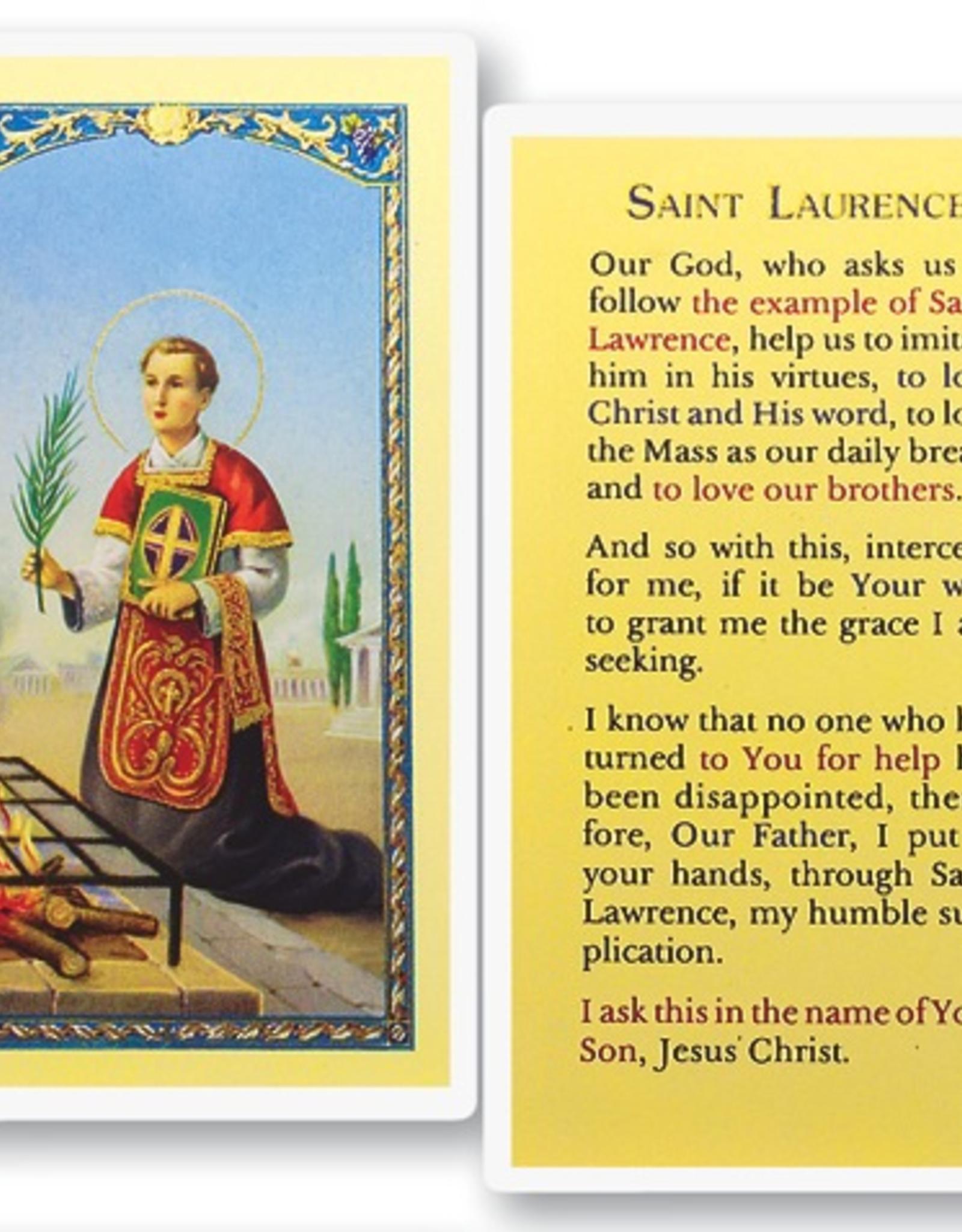 WJ Hirten St. Lawrence Holy Cards (25/pk)