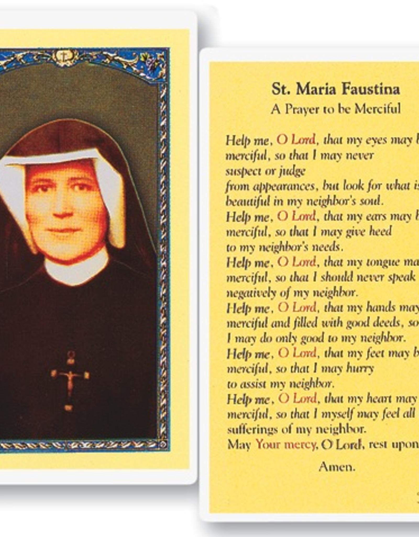WJ Hirten St. Maria Faustina Holy Cards (25/pk)