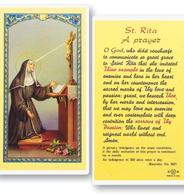 WJ Hirten St. Rita Holy Cards (25/pk)